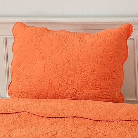 437-555 - North Shore Linens™ Medallion Embroidered Microfiber Sham