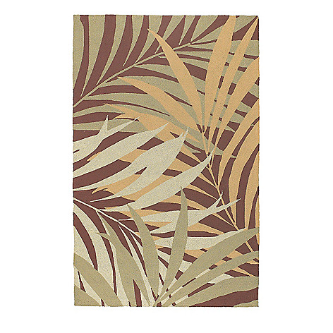 437-599 - All Season Rugs ''Tropics'' Hand-Hooked Stain/UV Resistant Indoor/Outdoor Rug