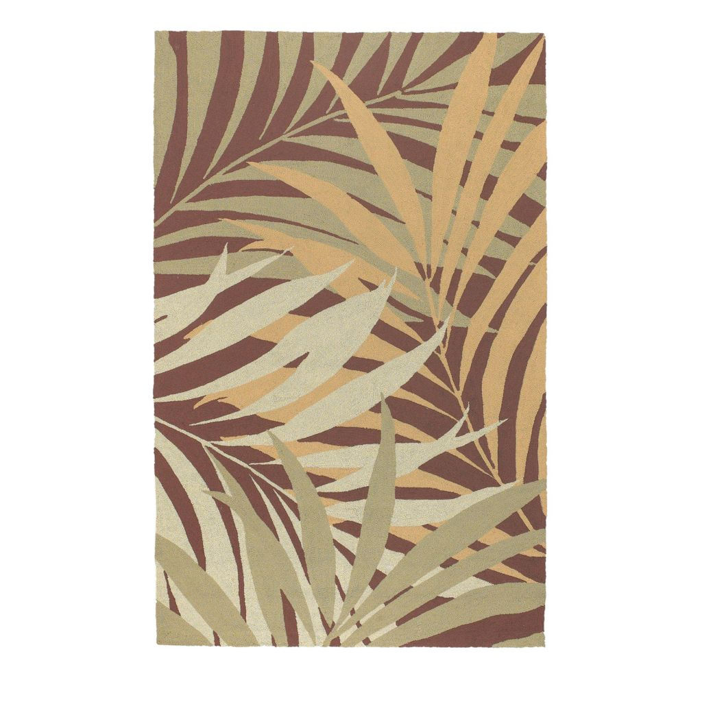 "437-599 - All Season Rugs ""Tropics"" Hand-Hooked Stain/UV Resistant Indoor/Outdoor Rug"