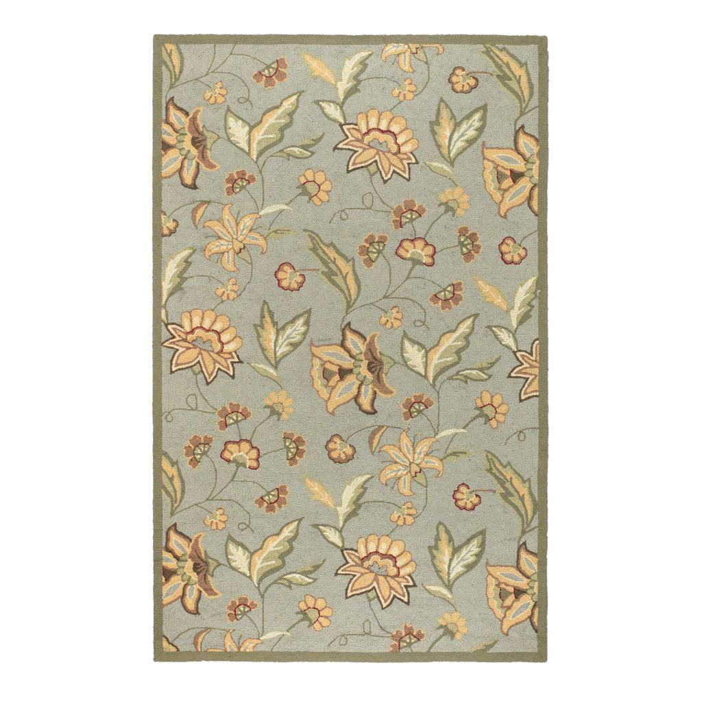 "437-600 - All Season Rugs ""Eloise"" Hand-Hooked Stain/UV Resistant Indoor/Outdoor Rug"