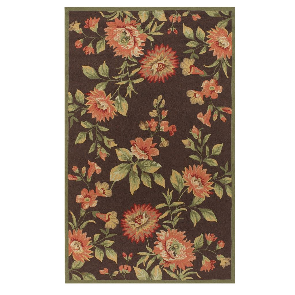 "437-601 - All Season Rugs ""Sasha"" Hand-Hooked Stain/UV Resistant Indoor/Outdoor Rug"