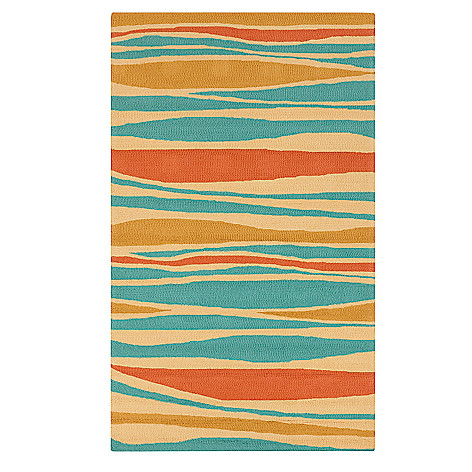 437-606 - All Season Rugs ''Gianna'' Hand-Hooked Stain/UV Resistant Indoor/Outdoor Rug
