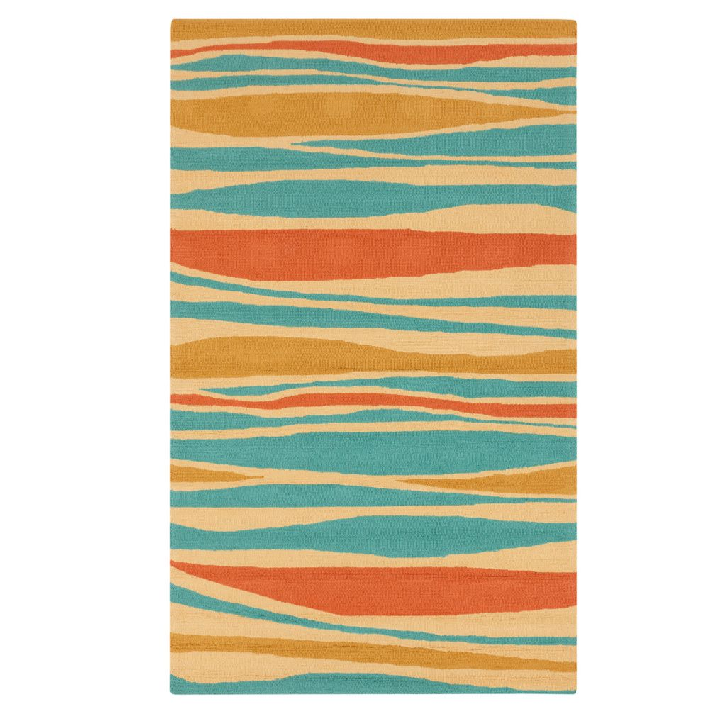 "437-606 - All Season Rugs ""Gianna"" Hand-Hooked Stain/UV Resistant Indoor/Outdoor Rug"