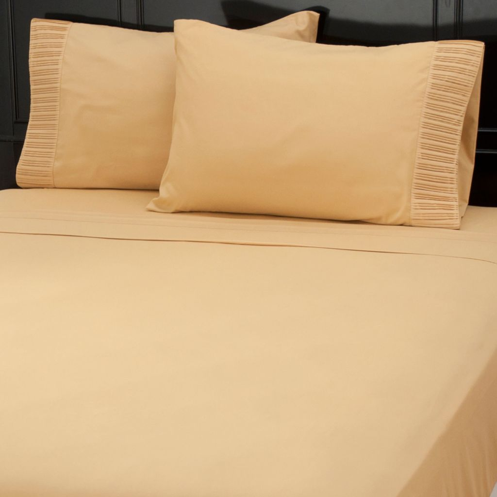 437-616 - Cozelle® Microfiber Pleated Four-Piece Sheet Set