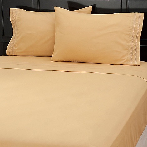 437-619 - Cozelle® Microfiber Chain Link Embroidered Four-Piece Sheet Set