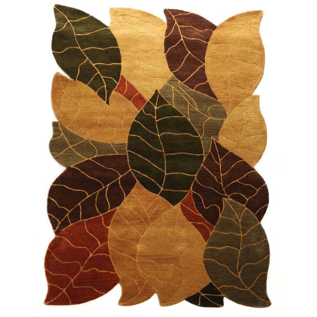 437-670 - Style at Home with Margie 3' x 3' or 5' x 8' Fauna Hand-Tufted 100% Wool Rug