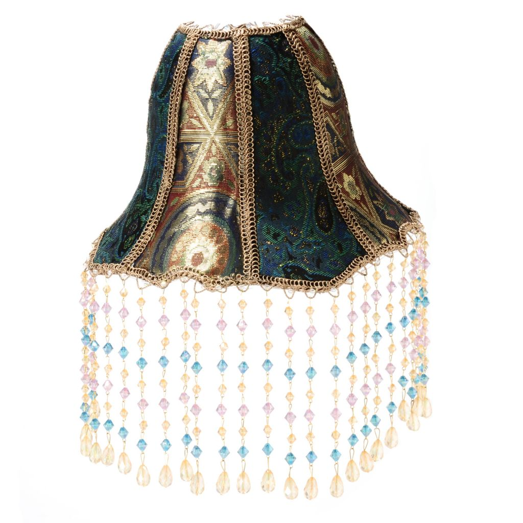 "437-677 - Style at Home with Margie 15"" Beaded Eshe Battery Operated LED Wall Sconce"