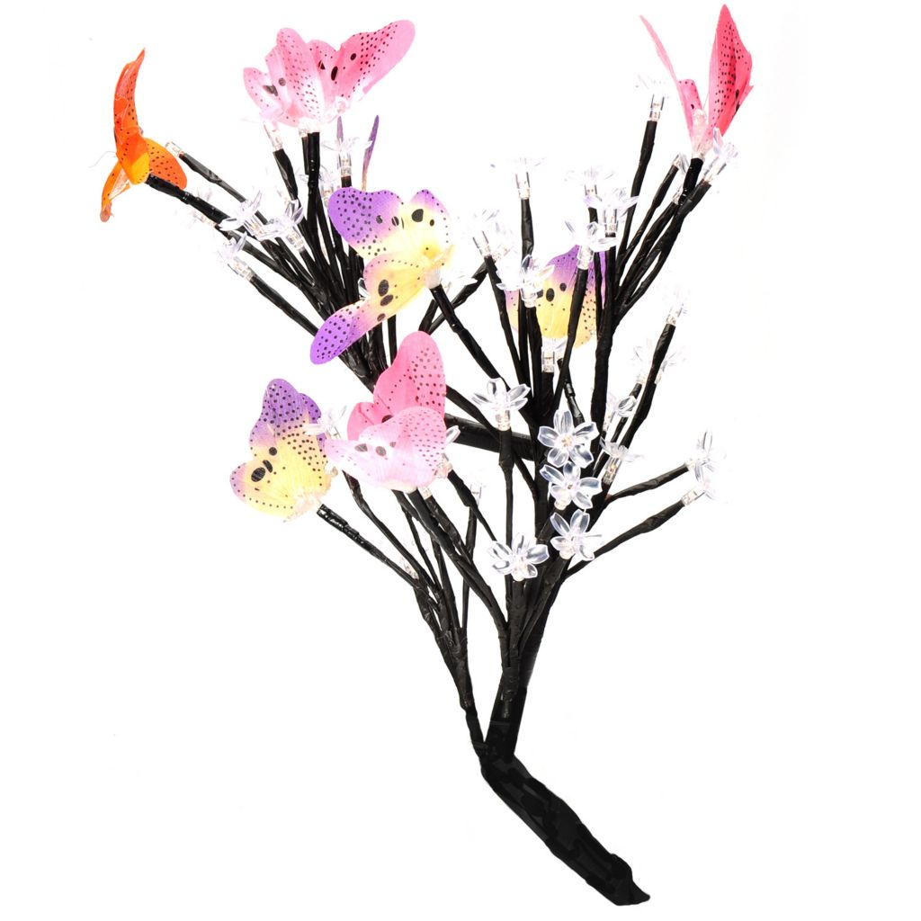 "437-679 - Style at Home with Margie 17.5"" Dancing Butterflies LED Tree"