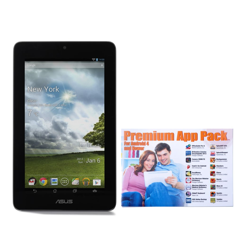 "437-687 - ASUS® MeMo Pad™ Google Certified 7"" Android™ 4.1 16GB Tablet w/ Cover & App Pack"