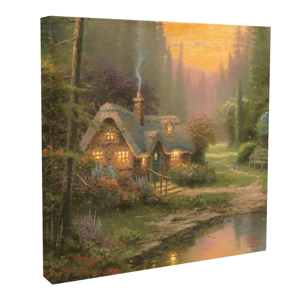 "437-702 - Thomas Kinkade ""Meadowood Cottage"" 20"" x 20"" Gallery Wrap"