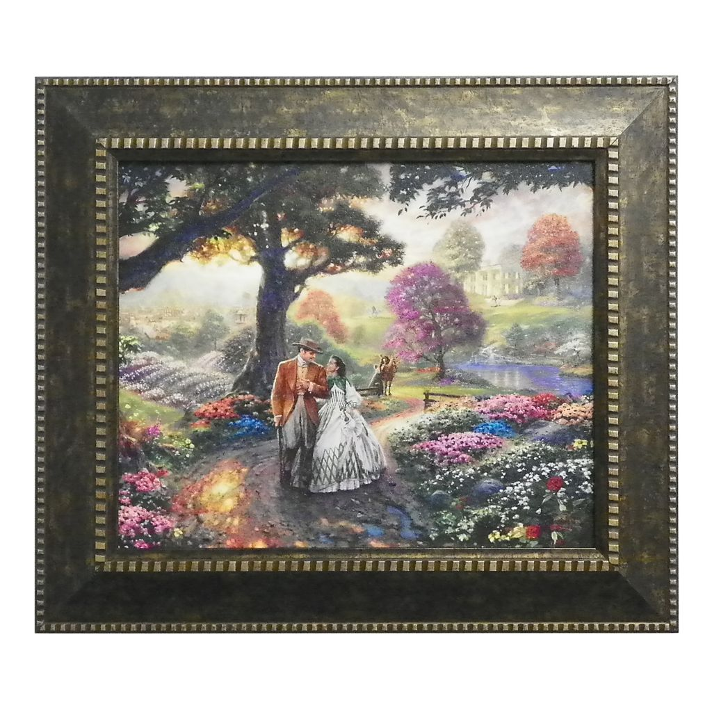 "437-709 - Thomas Kinkade ""Gone with the Wind"" Framed Textured Print"