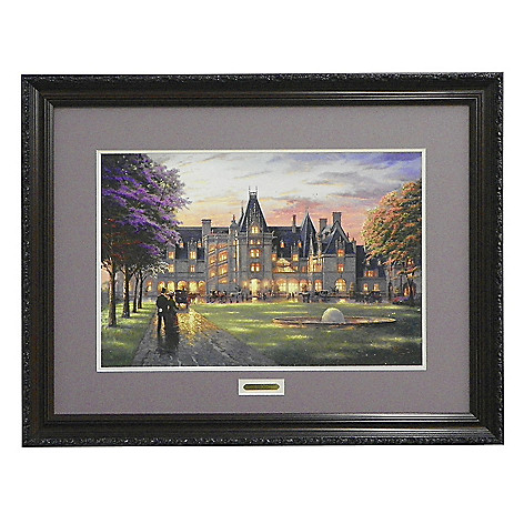 437-715 - Thomas Kinkade ''Elegant Evening at Biltmore'' Limited Edition Framed Print