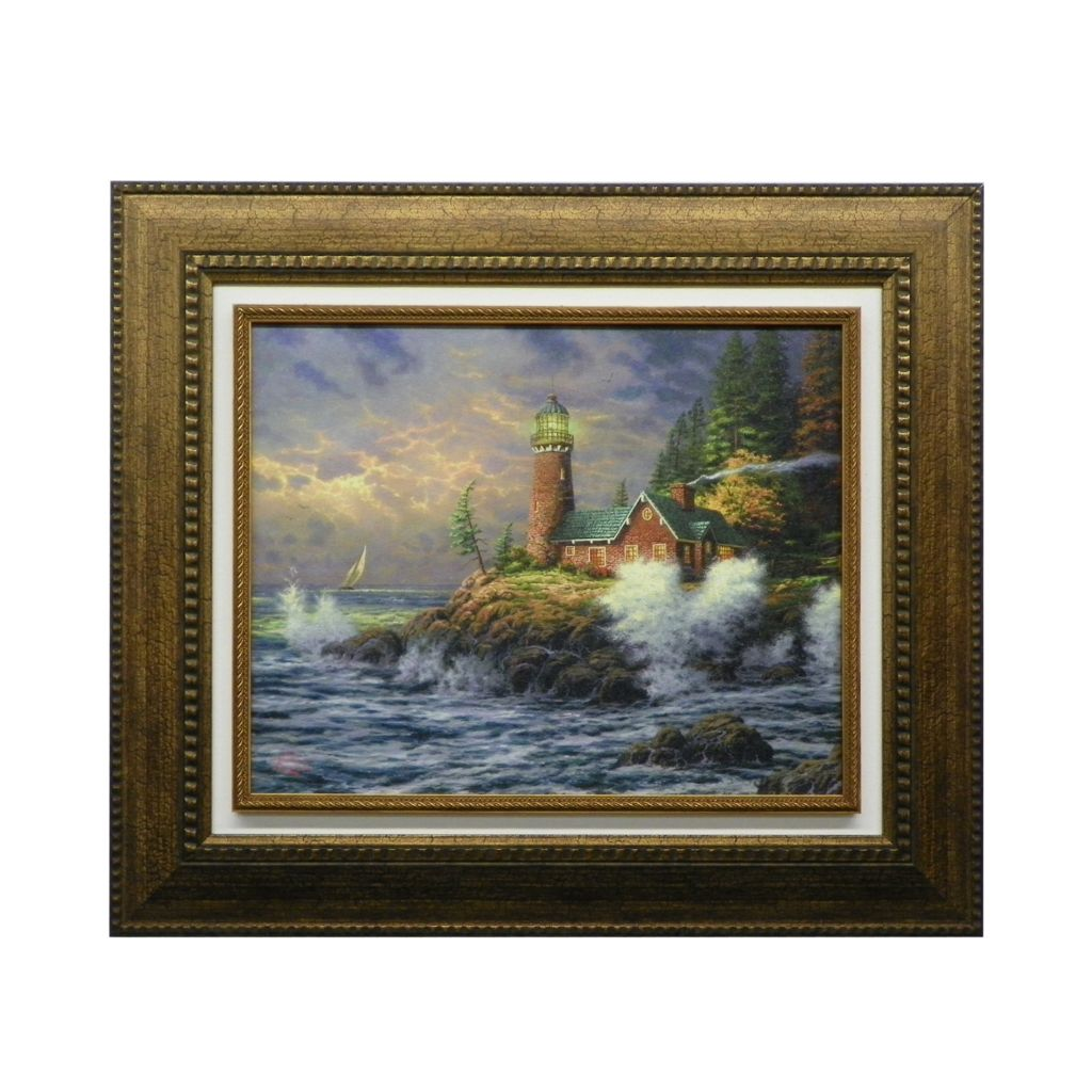 "437-721 - Thomas Kinkade ""Courage"" Framed Floating Textured Print"