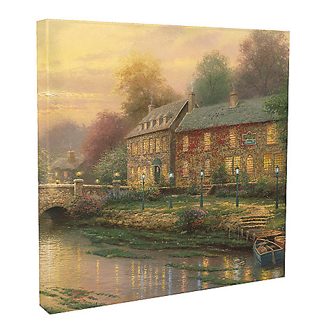 437-767 - Thomas Kinkade ''Lamplight Collection'' 20'' x 20'' Gallery Wrap