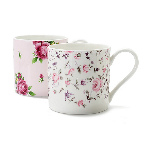 437-773 - Royal Albert® New Country Roses Two-Piece 12 oz Bone China Mug Set