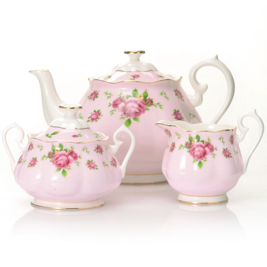 437-774 - Royal Albert® New Country Roses Three-Piece Bone China Tea Set