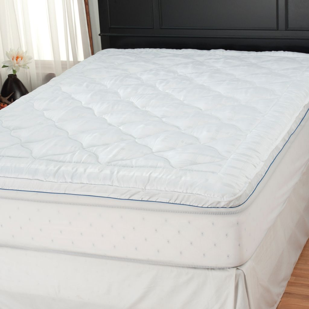 "437-781 - Cozelle® 2"" 200TC Gusseted Stain & Water Resistant Dobby Mattress Pad"