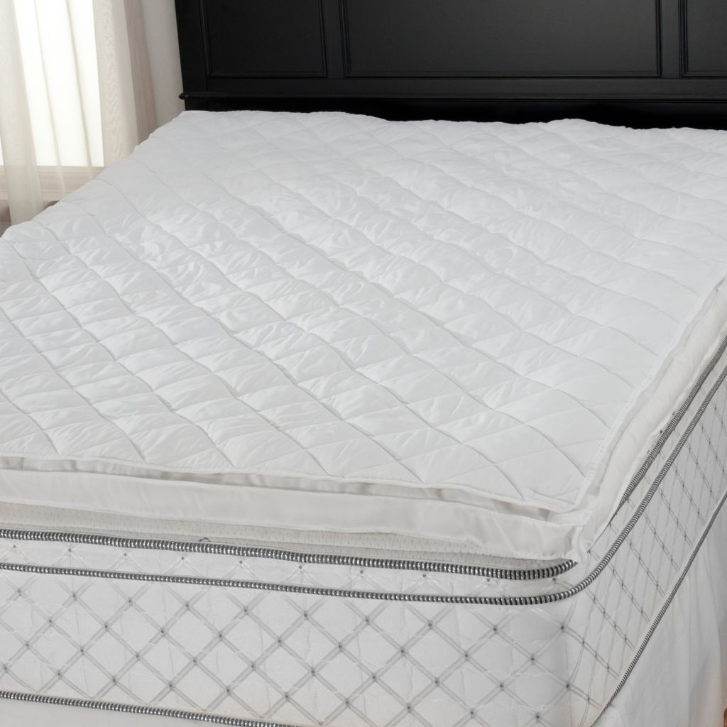"437-782 - Cozelle® 200TC 2"" Gusseted Stain & Water Resistant Removable Top Mattress Topper"