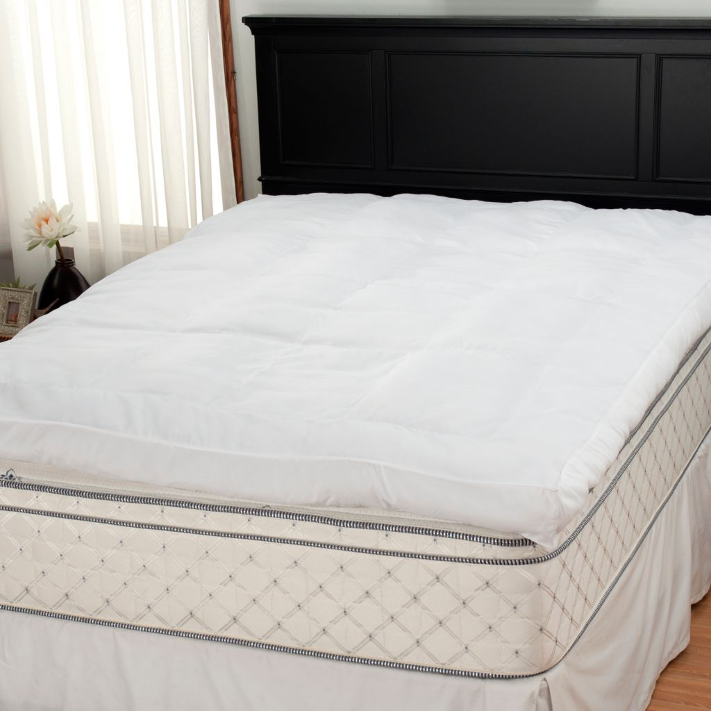 "437-785 - Cozelle® 5"" Gusseted 200TC Microfiber Baffle Box Mattress Topper"