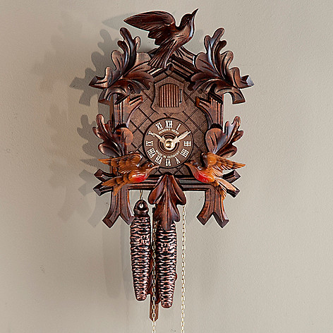 437-796 - Hubert Herr Moving Birds One-Day Hand-Crafted Cuckoo Clock