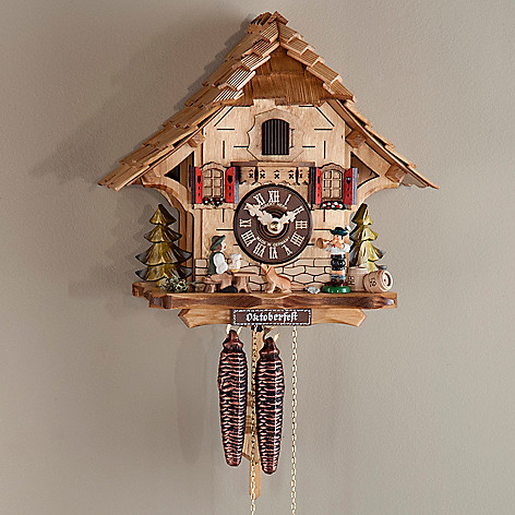 437-798 - Hubert Herr Oktoberfest Black Forest Chalet One-Day Cuckoo Clock