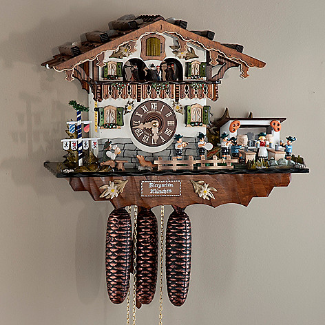 437-802 - Hubert Herr Bavarian Beer Garden Eight-Day Hand-Crafted Cuckoo Clock