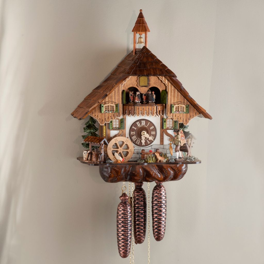 437-804 - Hubert Herr Farmhouse & Clock Pedlar Eight-Day Hand-Crafted Cuckoo Clock