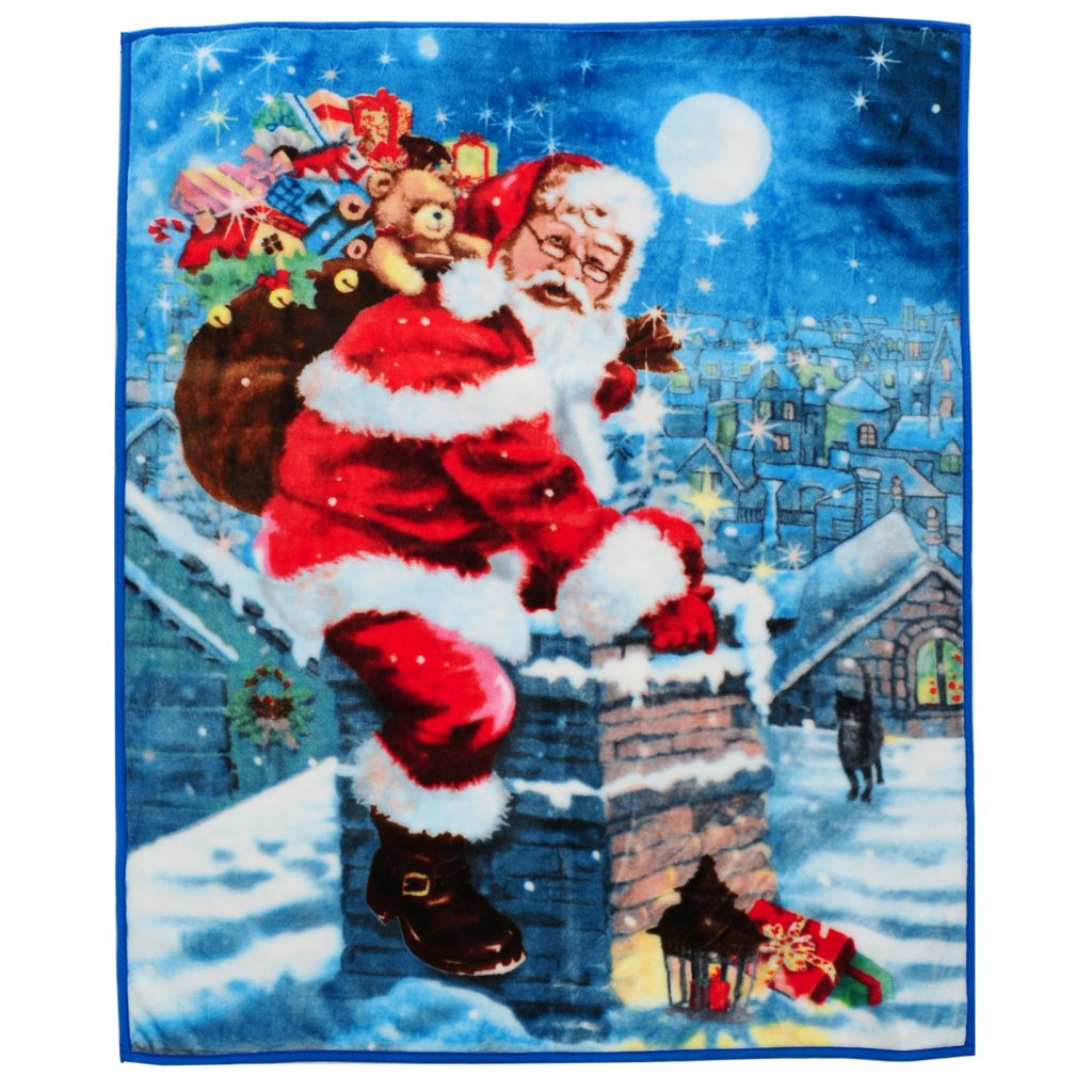 "437-842 - North Shore Linens™ 60"" x 48"" Holiday Throw"