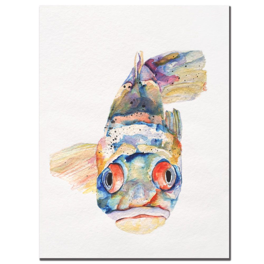 "437-853 - Pat Saunders-White ""Blue Fish"" Ready to Hang Canvas Art"