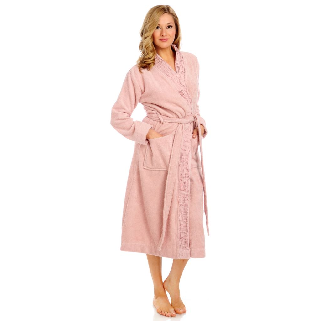 437-862 - Grand Suites® Turkish Cotton Pleated Bathrobe