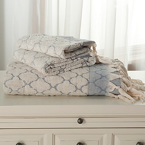 437-864 - Grand Suites® Three-Piece Turkish Cotton Lattice Towel Set