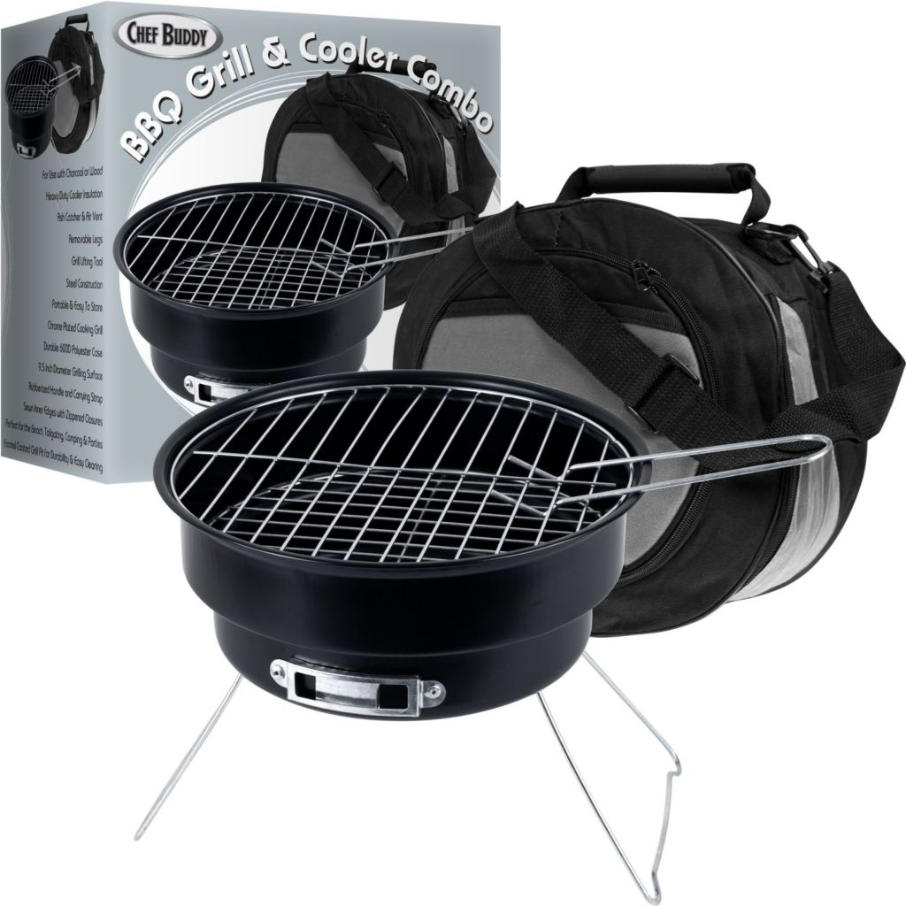 437-885 - Chef Buddy™ Portable Grill & Cooler Combo