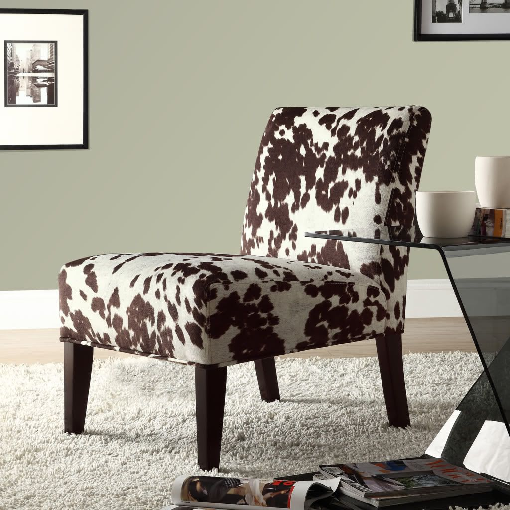 437-905 - Homebasica Cowhide Print Accent Chair