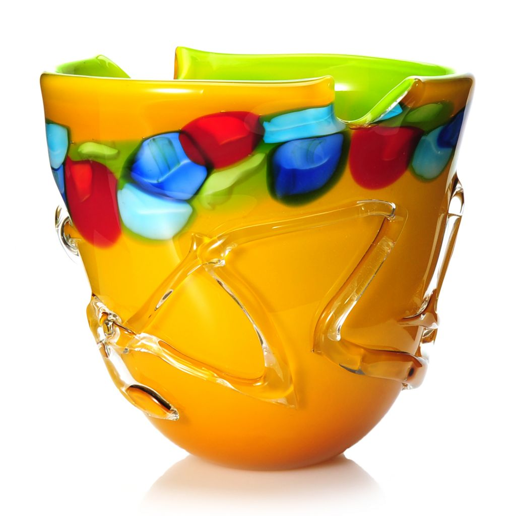 "437-914 - Favrile 9.75"" Hand-Blown Art Glass Tahoe Bowl"