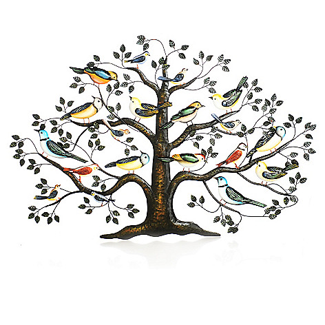 437-947 - Style at Home with Margie 28.25'' Sparrow's Haven Hand-Painted Wall Decor