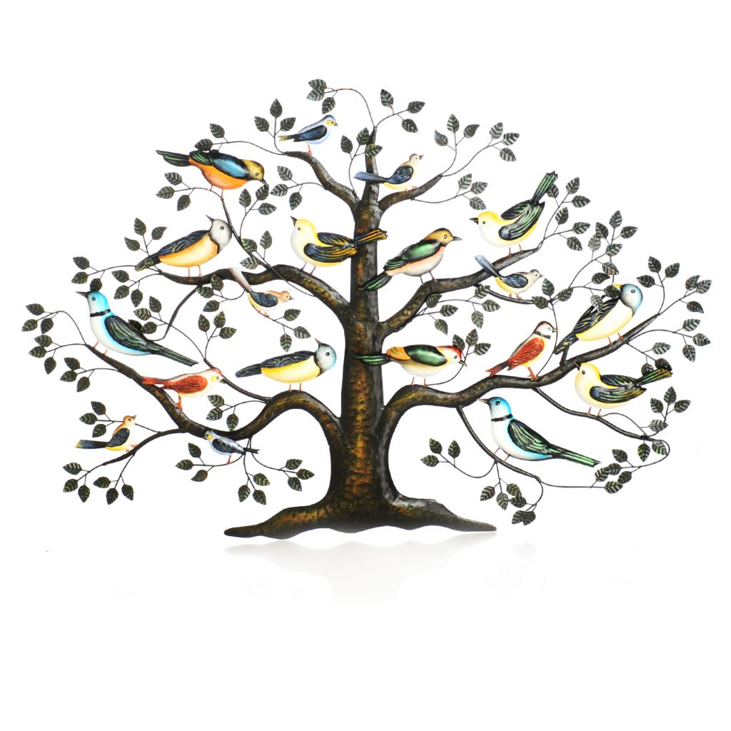 "437-947 - Style at Home with Margie 28.25"" Sparrow's Haven Hand-Painted Wall Decor"
