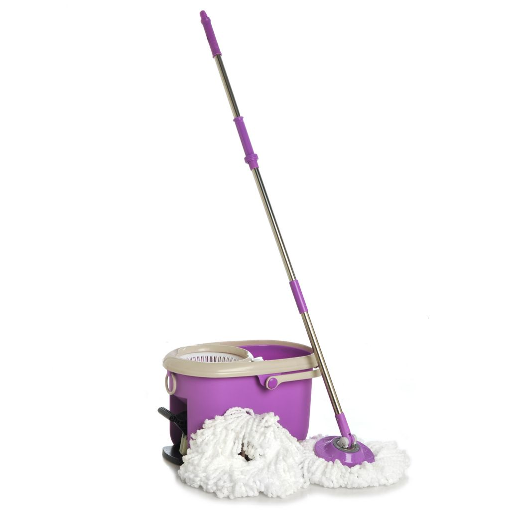437-963 - Spin Mop Platinum w/ Two Mop Heads & Built-in Soap Dispenser