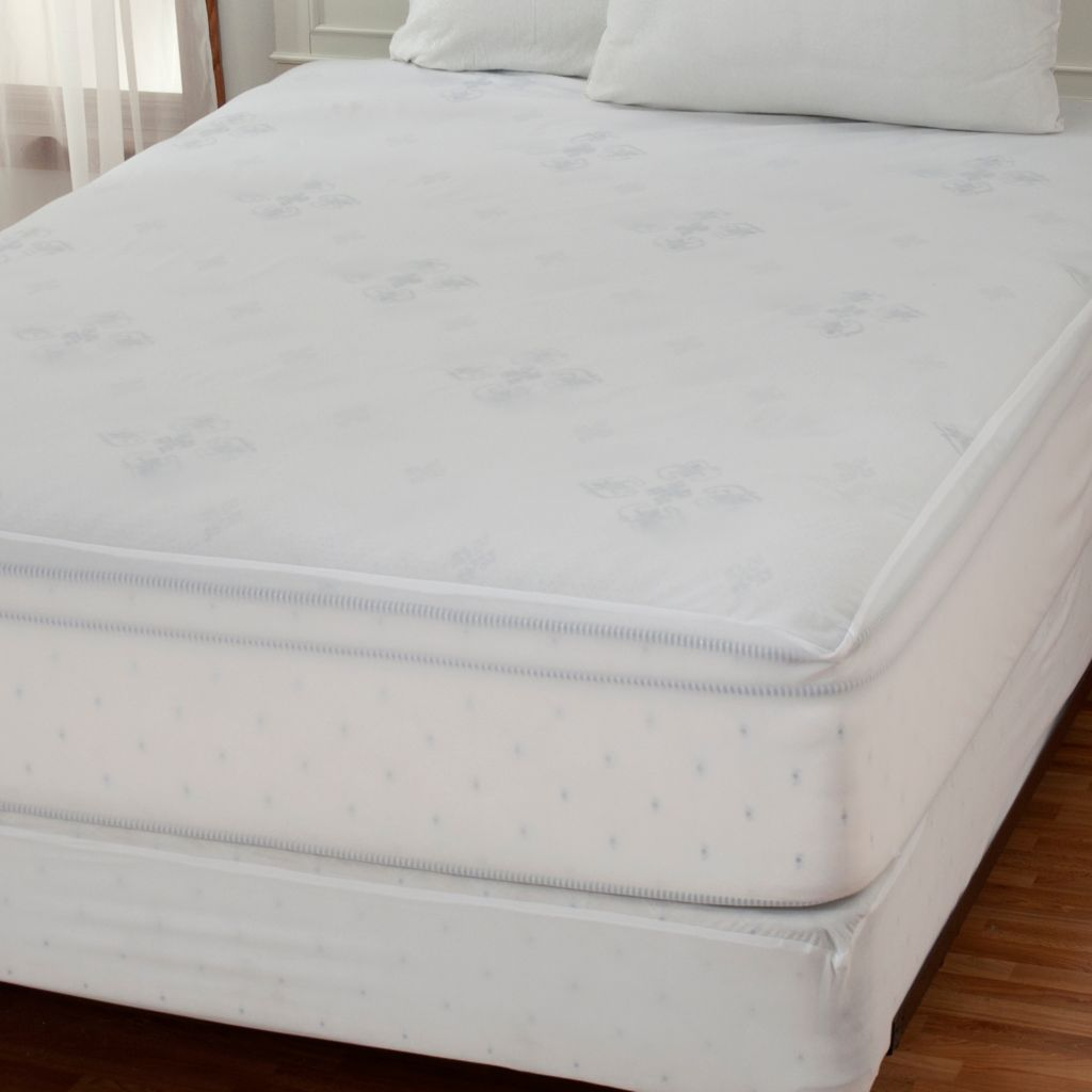 437-965 - Cozelle® Stain & Water Resistant Mattress Pad & Box Spring Cover Set