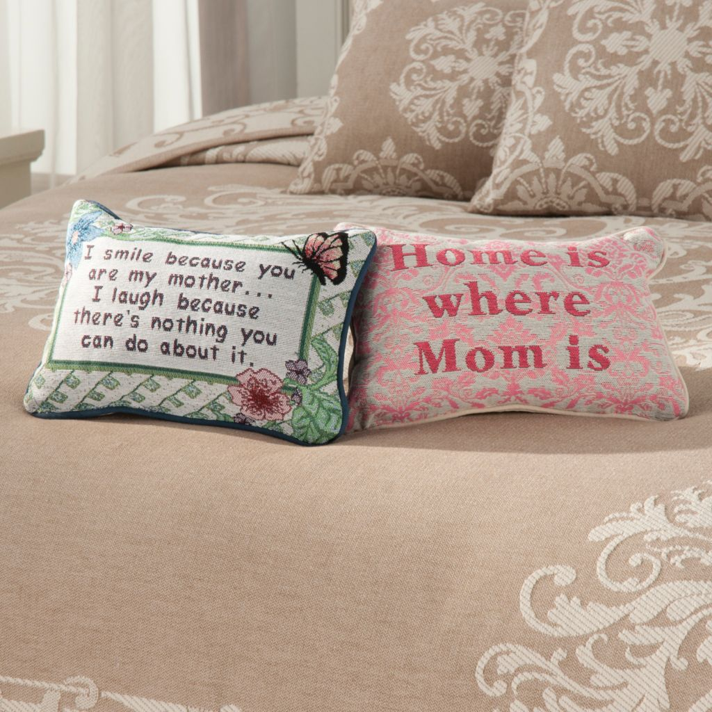 "437-966 - North Shore Linens™ Set of Two 12.5"" x 8.5"" Decorative Word Pillows"