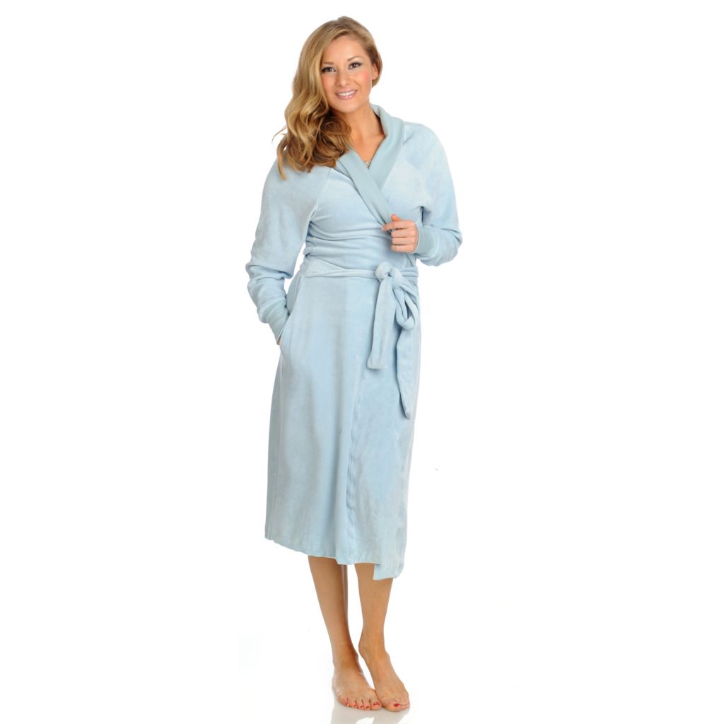 437-969 - Cozelle® Velour Bathrobe w/ Gift Box