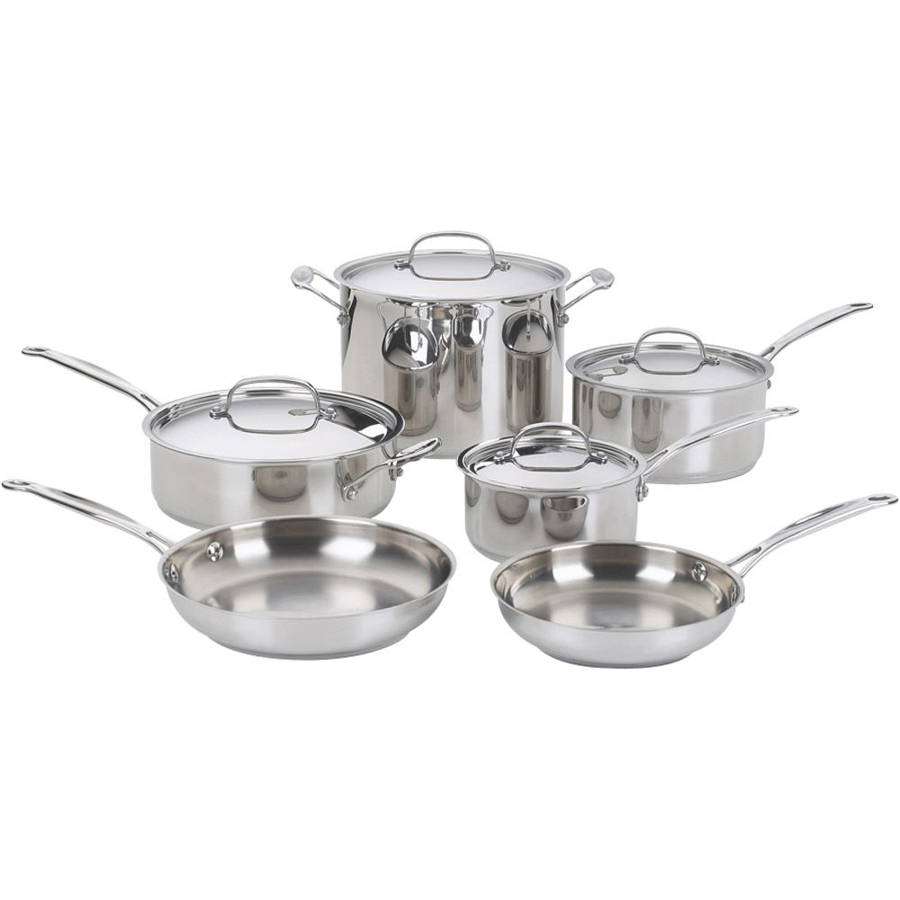 438-043 - Cusinart® Chef's Classic™ Stainless Steel 10-Piece Cookware Set