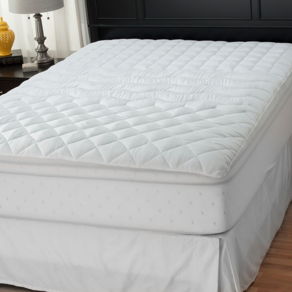 438-066 - Cozelle®200TC Microfiber Zoned Stain &Water Resistant Mattress Pad