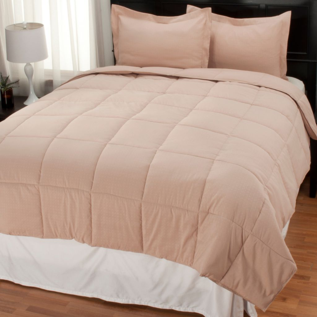 438-071 - Cozelle® Microfiber Down Alternative Three-Piece Comforter Set