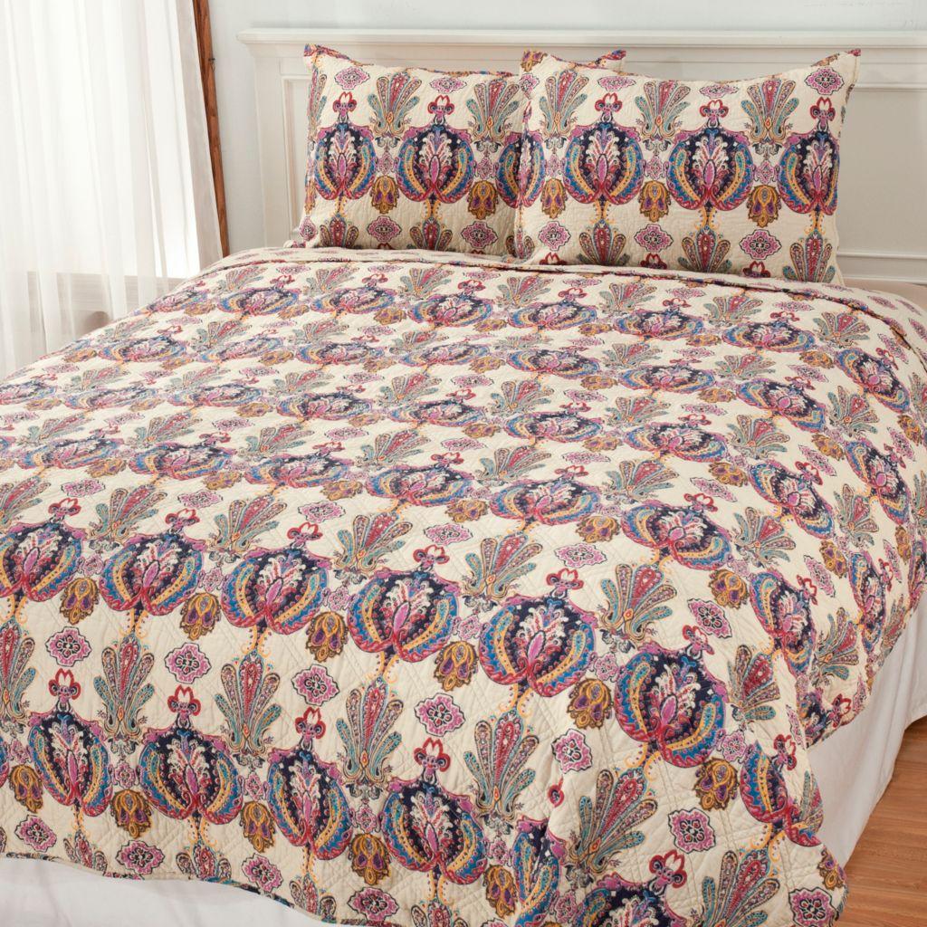 438-095 - North Shore Linens™ Cotton Medallion Three-Piece Coverlet Set