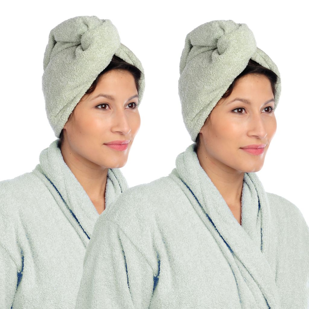 438-133 - Cozelle® Set of Two Ultra-Absorbent & Color Safe Hair Turbans