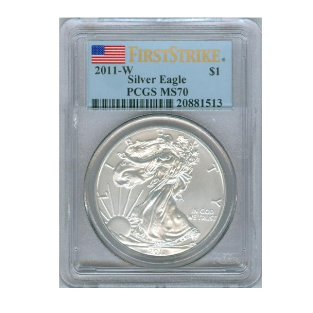 438-178 - 2011 Silver American Eagle MS70 FS Burnished PCGS W Coin w/ Slab