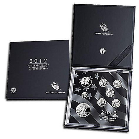 438-187 - 2012 Silver US Mint BU Limited Edition Eight-Piece Proof Coin Set