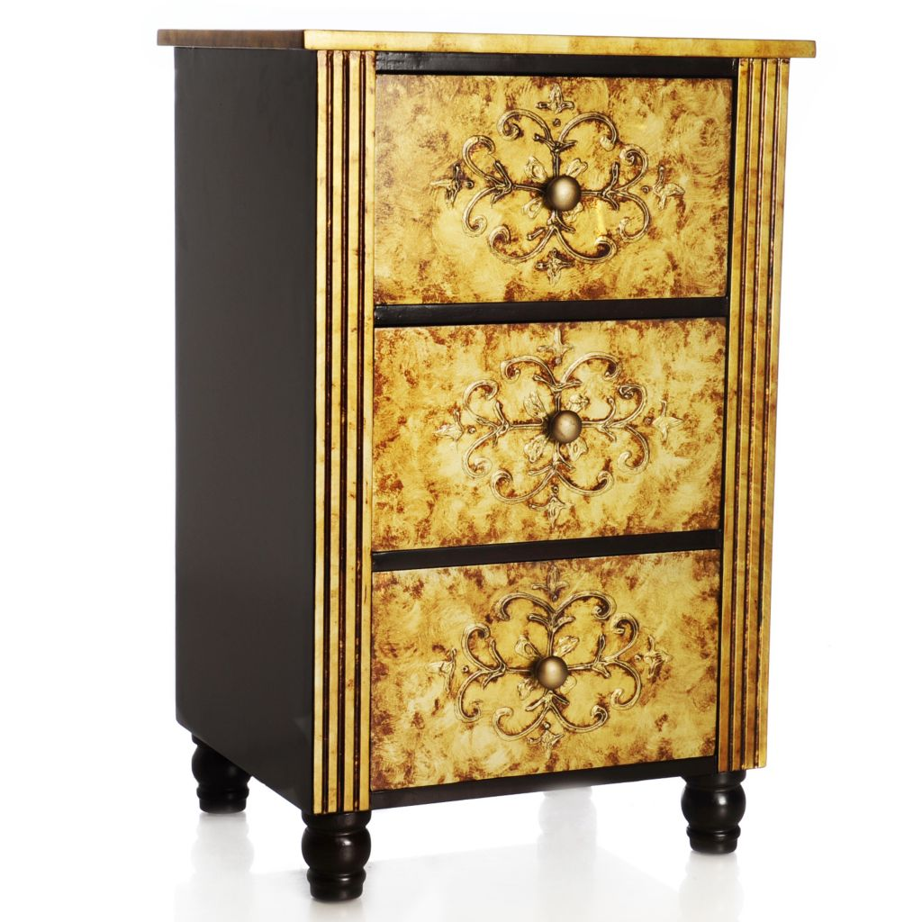 "438-202 - Style at Home with Margie 27.5"" Hand-Painted Three-Drawer Chest"