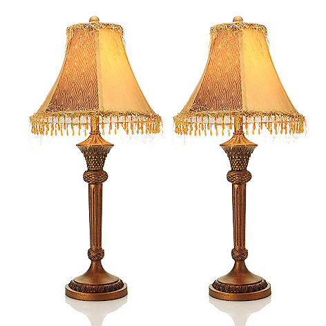 438-203 - Style at Home with Margie Set of Two 31.5'' French-Inspired Buffet Lamps