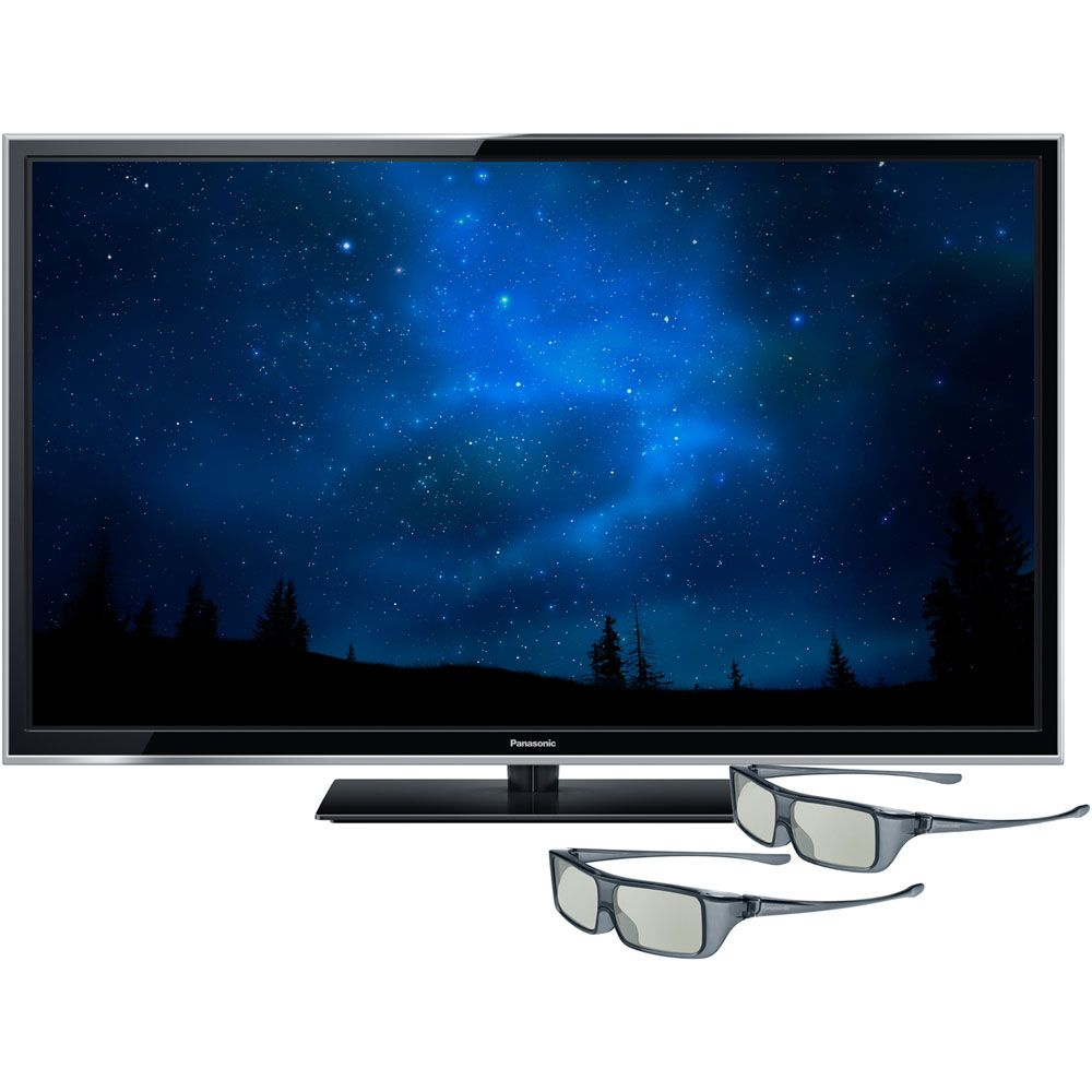 "438-229 - Panasonic TC-P50ST60 50"" Smart ST60 Series Plasma 1080p HDTV w/ Two 3D Glasses"